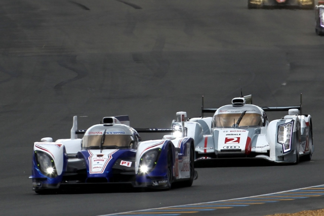 After Le Mans Toyota and Audi will face off again this weekend (Photo Credit: Toyota Hybrid Racing)