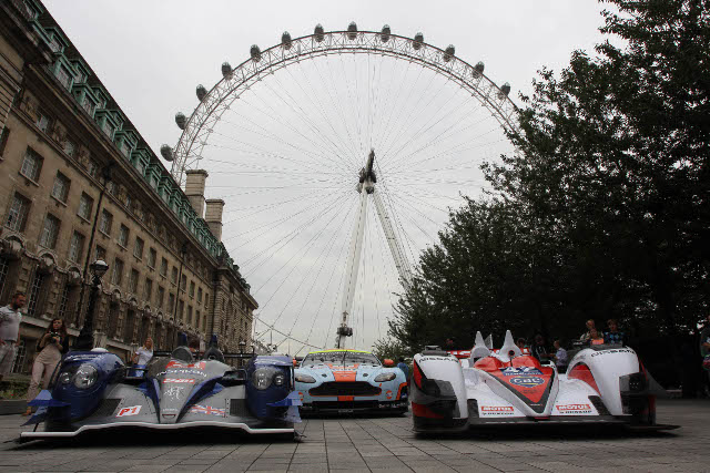 WEC cars and stars gathered in front of the the London Eye (Photo Credit: FIA WEC)