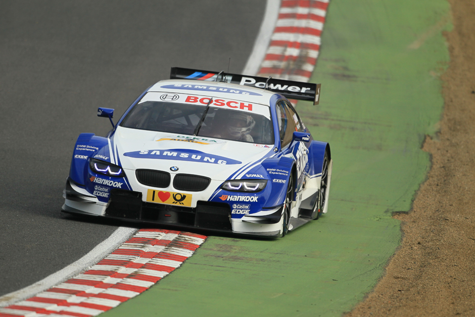 Hand getting to grips with the M3 DTM at Brands Hatch (Photo Credit: Octane Photographic)