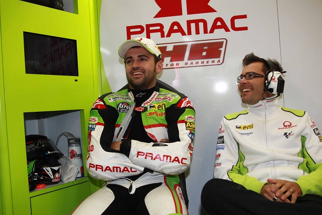 Hector Barbera sits out Friday Practice at Misano - Photo Credit: Pramac Racing
