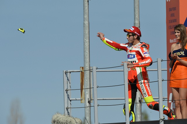 Valentino Rossi dedicated his second-place finish in the San Marino Grand Prix to the family of his late friend Marco Simoncelli