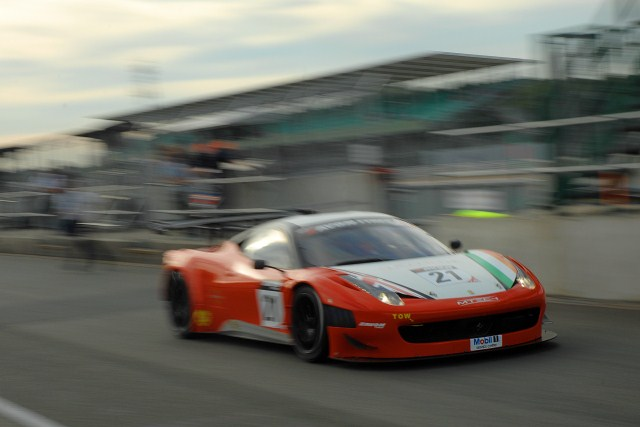 Griffin took pole in his final stint in the #21 Ferrari (Photo Credit: Chris Gurton Photography)