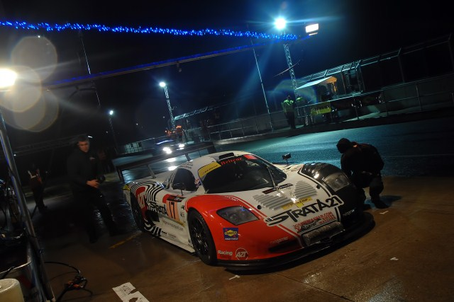 Hour four of the 2012 Britcar 24 Hours at Silverstone was fast heading towards the beginning of night racing for all four classes, as Neil Garner Motorsport and its Mosler still being the only car on the lead lap, as Team LNT continued their steady progress around the 'Home of British Motorsport' in second place.