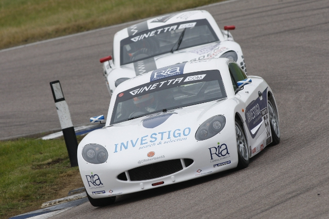 Charlie Robertson has increased his advantage at the top of the Ginetta Junior Championship standings with a pair of second place's at Rockingham. After dominating qualifying to take pole position...