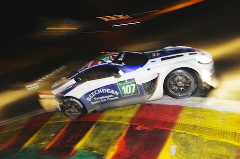 "Adam had his first taste of night driving during a ""crazy"" Spa 24 (Photo Credit: Red Square Images)"