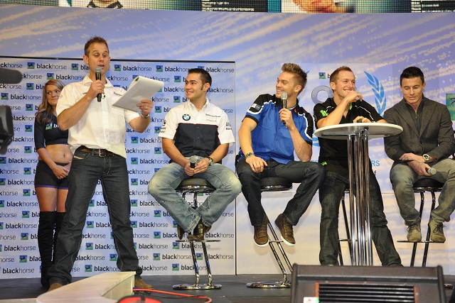 James Whitham interviewing a selection of Britain's top motorcycle racers - Photo Credit: Motorcycle Live