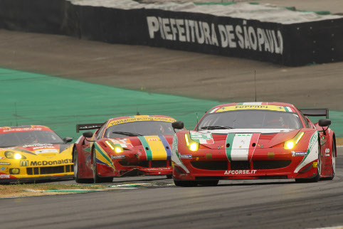 Bruni and Fisichella won GTE Pro, their Am teammates were a victim of lap one damage (Photo Credit: Clement Marin)