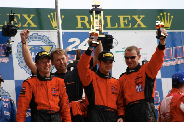 Richard Dean (left), Kimber-Smith and Tomlinson will be joined for Mike Simpson at Silverstone (Photo Credit: Ginetta)
