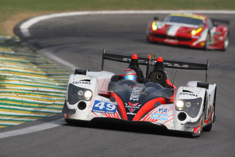 Pierre Kaffer started the race for Pecom Racing spinning, but ended on the LMP2 podium (Photo Credit: Clement Marin)