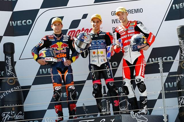 The three Moto3 podium finishers at Aragon - Photo Credit: MotoGP.com