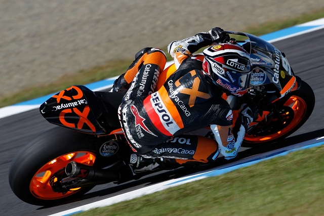 Marc Marquez needed the last lap of the day at Motegi to deny Bradley Smith and Scott Redding a British 1-2 in Friday Practice ahead of the Japanese Grand Prix
