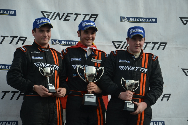 Ginetta Podium - Photo Credit: Simon Paice