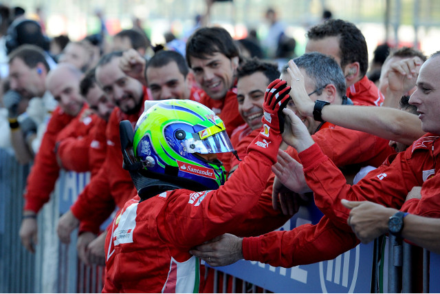 ​Felipe Massa​ will continue to drive for ​Ferrari​ in 2013, the Italian team confirmed on Tuesday.