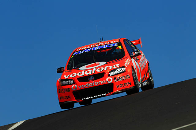 Jamie Whincup sets the fastest time in qualifying Photo credit: TeamVodafone