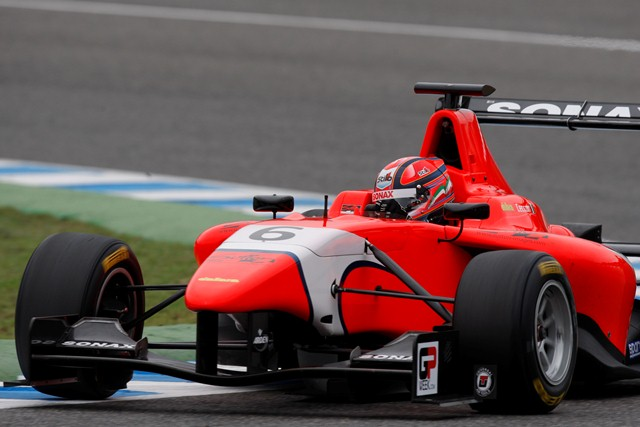 Kevin Ceccon showed he'll be a contender should he return to the GP3 Series next season after topping the timesheets on the opening day of the first post-season test at...