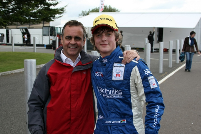 Seventeen-year-old Liam Venter has set his sights on becoming Formula One's next star. The South African, who has impressed in the Intersteps championship this year, is looking to move into Formula Renault or Formula Three in 2013.