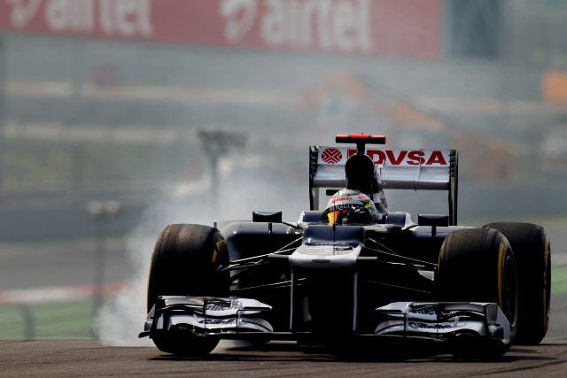Williams had reasons to be positive following qualifying in India today. It was a strong joint performance from the drivers, with Pastor Maldonado due to start ninth on the grid, with Bruno Senna not far behind him in thirteenth.