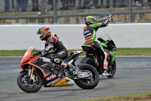 Despite winning the season finale, Sykes couldn't quite reel Biaggi in (Photo Credit: WorldSBK.com)