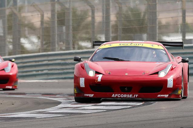 The crew of the #1 retained the Gulf 12 Hours for AF Corse (Photo Credit: Gulf 12 Hours)
