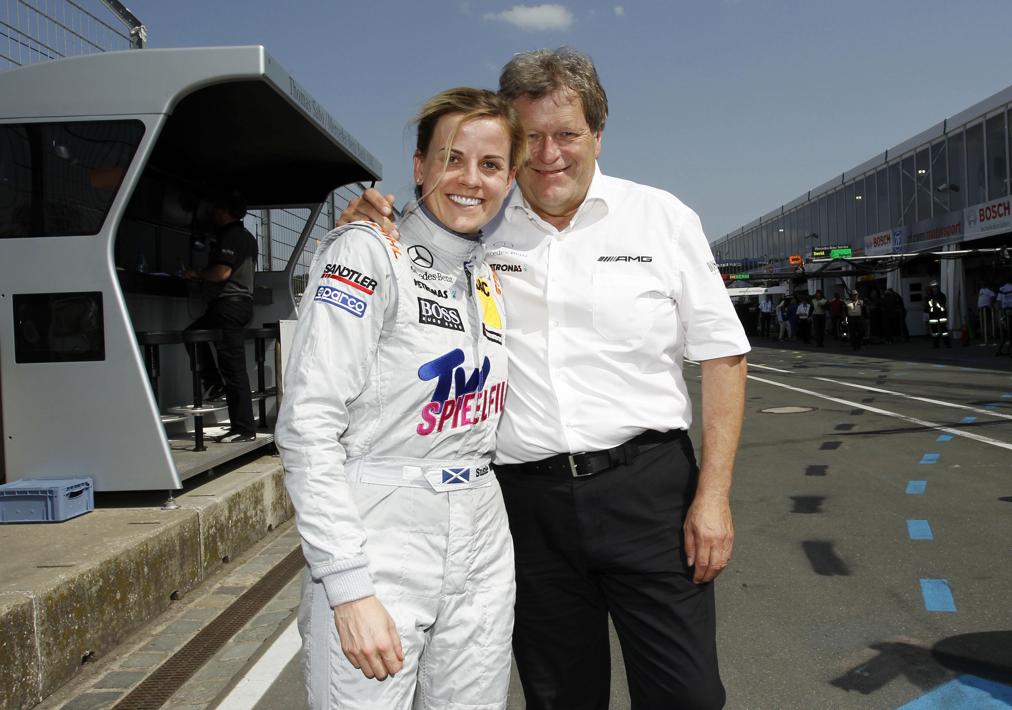#24 Susie Wolff, Persson Motorsport, TV Spielfilm Mercedes AMG C-Coupé (2012)