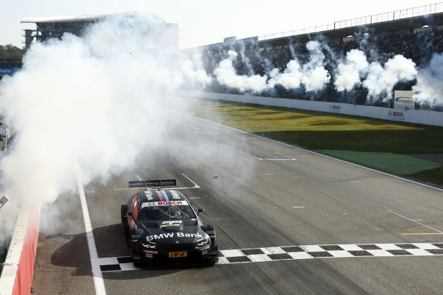 Bruno crosses the line to victory and ensures a clean sweep of the titles for BMW (Image Credit: DTM Media)