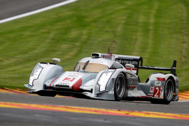 Audi's hybrid R18 e-tron quattro made its race debut at Spa-Francorchamps (Photo Credit: Audi Motorsport)