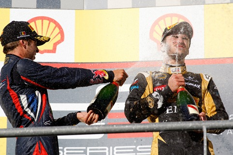Antonio Felix da Costa and Daniel Abt - Photo Credit: Daniel Kalisz/GP3 Series Media Service