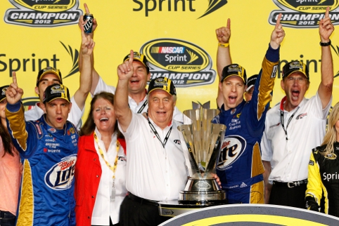 Brad Keselowki gave Roger Penske's team their first NASCAR Sprint Cup title (Photo Credit: Tom Pennington/Getty Images for NASCAR)