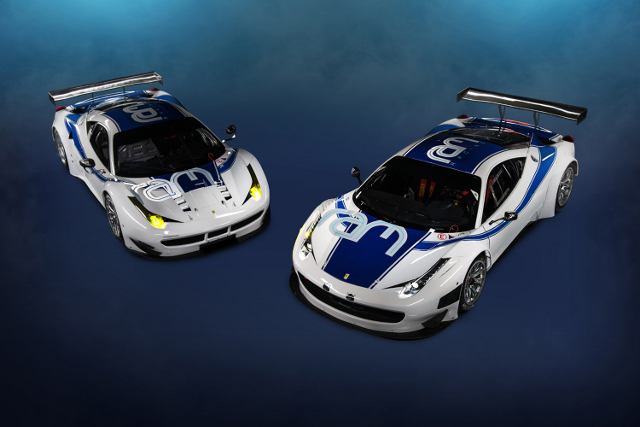 Ram Racing GT3 Ferrari (right) will race at Dubai ahead of the teams full ELMS campaign (Photo Credit: Ram Racing)