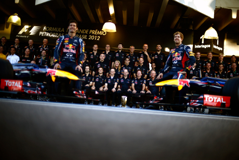 Red Bull Racing added another pair of titles to the F1 collection (Photo Credit: Photo by Vladimir Rys)