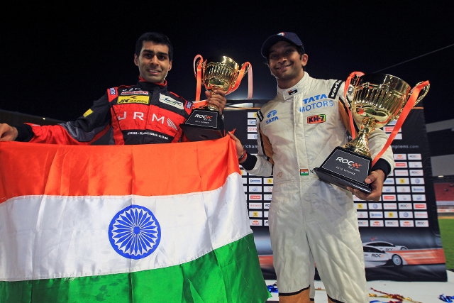 Chandhok and Karthikeyan completed a 'straight sets' win in the final (Photo Credit: Race of Champions)