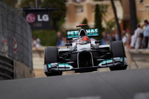 Schumacher's Monaco pole was taken away due to his Barcelona offence (Photo Credit: Mercedes GP)