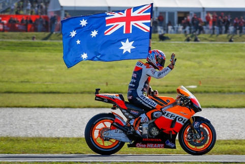 Casey Stoner took a final MotoGP victory on home soil (Photo Credit: MotoGP.com)