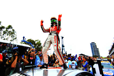 Jamie Whincup wrapped up his fourth V8 Supercars title (Photo Credit: Team Vodafone)
