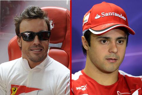 Fernando Alonso and Felipe Massa - Photo Credit: Ferrari