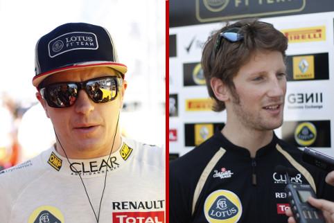 Kimi Raikkonen and Romain Grosjean - Photo Credit: Andrew Ferraro/LAT Photographic