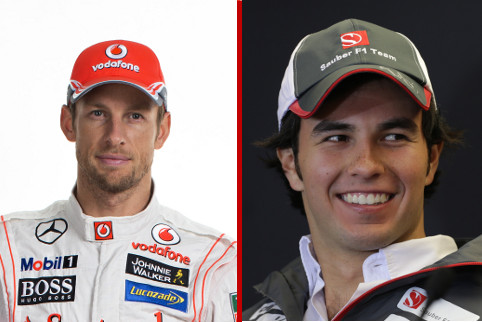 Jenson Button and Sergio Perez - Photo Credit: Vodafone McLaren Mercedes / Sauber Motorsport AG