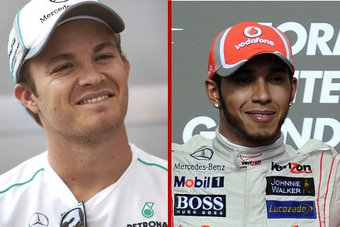 Nico Rosberg and Lewis Hamilton - Photo Credit: Mercedes AMG Petronas / Pirelli