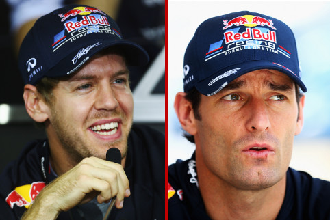 Sebastian Vettel and Mark Webber - Photo Credit: Paul Gilham/Getty Images
