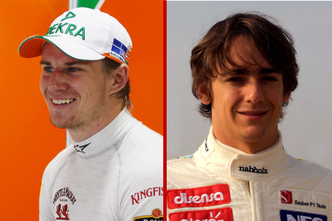 Nico Hulkenberg and Esteban Gutierrez - Photo Credit: Sahara Force India F1 Team / Sauber Motorsport AG