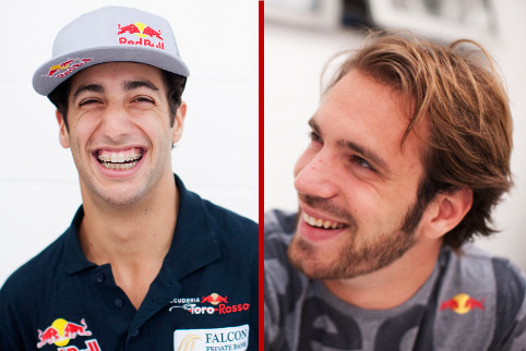 Daniel Ricciardo and Jean-Eric Vergne - Photo Credit: Peter Fox/Getty Images