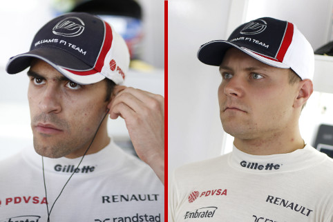 Pastor Maldonado and Valtteri Bottas - Photo Credit: Glenn Dunbar/LAT Photographic