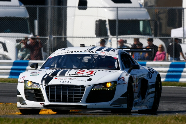 Filipe Albuquerque was the best Audi driver in the 15 minute session (Photo Credit: Audi Motorsport)