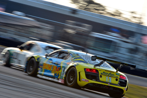 But there was heartbreak for Rim Bum Racing, who ran out on the final lap (Photo Credit: Audi Motorsport)