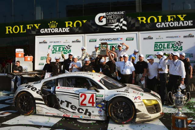 Alex Job Racing's #24 led home the Audi 1-2 in class (Photo Credit: Audi Motorsport)