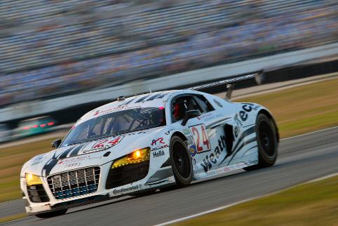 Felipe Albuquerque took the Alex Job Racing Audi to GT class victory (Photo Credit: Audi Motorsport)