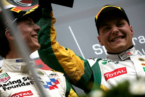James Calado and Valtteri Bottas. Photo Credit: Drew Gibson/GP3 Media Service