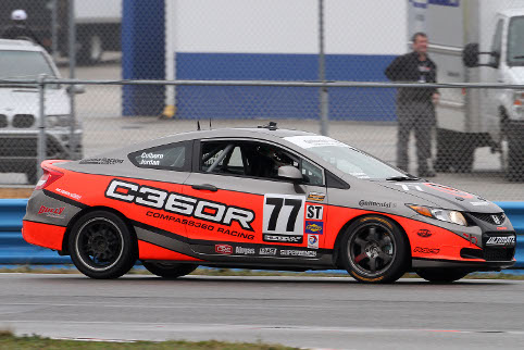 Andrew Jordan took the #77 Honda Civic to the top of ST (Photo Credit: Grand-Am)