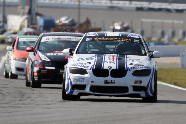 Brett Sandberg qualified the #48 fifth, in the middle of Fall-Line trio (Photo Credit: Grand-Am)