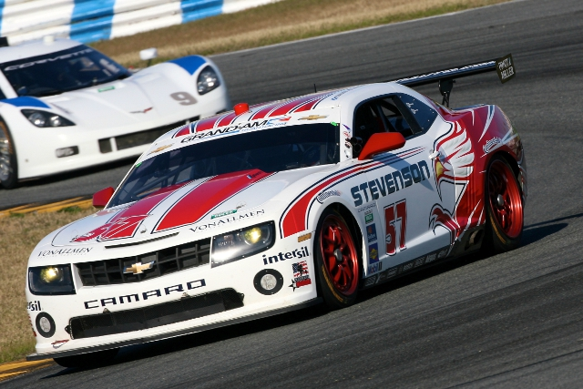 The Camaro was unable to match the pace shown by the pole winning Porsches (Photo Credit: Grand-Am)
